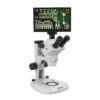 13131 Z850 trinocular microscope shown with Excelis Camera and monitor (sold separately)